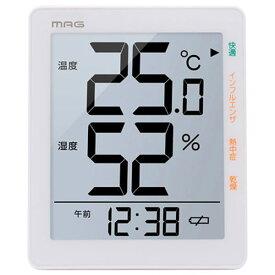 【正規品】NOA ノア精密 クロック TH-105 WH 温度湿度計 MAGデジタル温湿度計 TH-105
