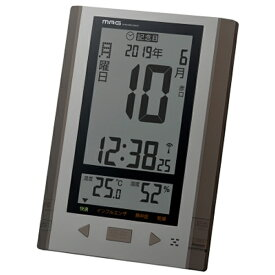 【正規品】NOA ノア精密 クロック W-751 BR 電波時計 掛置兼用 MAG マグ デイトン