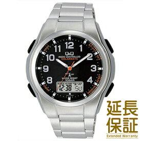 【国内正規品】Q&Q キュー&キュー 腕時計 CITIZEN シチズン CBM QQ MD02 205 メンズ SOLARMATE ソーラー電波 JAN:4966006063424
