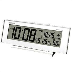 【正規品】SEIKO セイコー クロック SQ762W 電波目覚まし時計