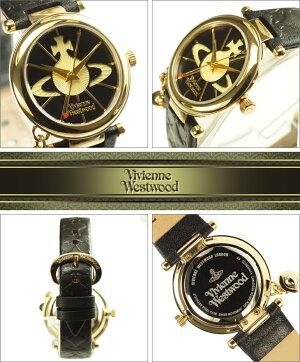 VivienneWestwoodヴィヴィアンウエストウッド腕時計VV006BKGDレディースOrbオーブBLACK×GOLDブラック×ゴールド