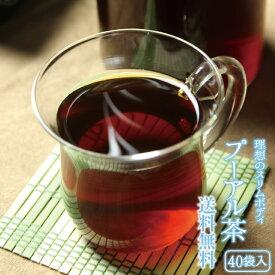 プーアル茶 送料無料 40包 理想のスリムボディ! ポリフェノール 農薬検査済み 自社輸入 カロリー0