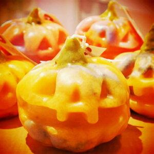 ハンドメイドキャンドル カボチャ Halloween ハロウィン かぼちゃ 作家 step イベント パーティー 置物 インテリア 小物 置き物 飾り オーナメント ブライダル 結婚式 二次会 誕生日 ギフト プレ