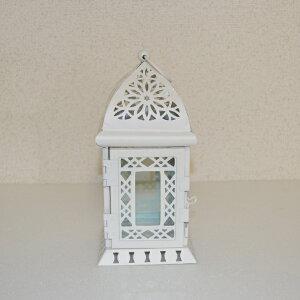 キャンドルランタン【LIGHT HOUS】ライトハウス 白キャンドルホルダー テーブルランプ