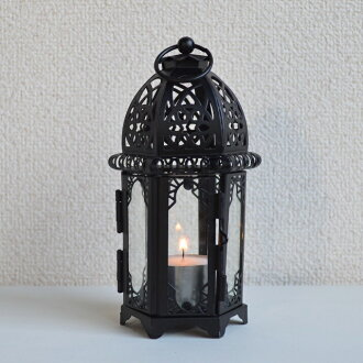 Candle Lantern windy black candle holder table lamp