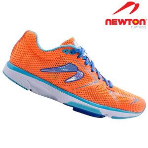 【送料無料】ランニングシューズ レディース ウィメンズ ニュートン ニュートンランニング ディスタンス8 ナチュラルレーサー NEWTON NEWTONRUNNING Distance8 Neutral Racer Orange/Blue オレンジ ブルー ラ