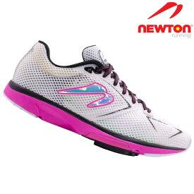 ニュートン ディスタンスS NEWTON DistanceS W000820 White/Fuscia ホワイト フーシャ レディース ランニング マラソン ラン ランナーズシューズ