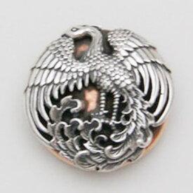 コンチョ シルバー CS-611 和風和柄 シルバーコンチョ 鳳凰コンチョ Silver925シルバー925×ブロンズ(銅)