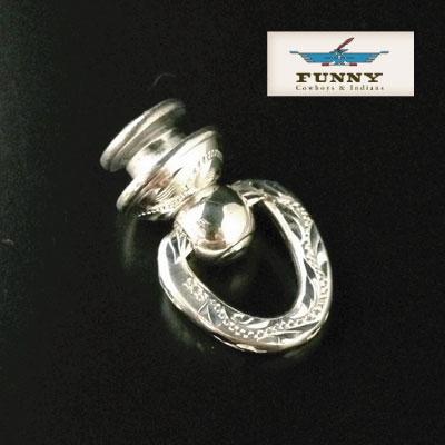 【メール便対応】【売れ筋】FUNNY [ファニー] 社製 Silver925 手彫りエングレーブ ウォレットドロップハンドル ジョイントパーツ FUNNY 財布 (ファニー) ウォレット メンズ 用
