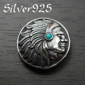 【シルバーコンチョ】 シルバー925 ネイティブ インディアンコンチョ カスタムウォレットパーツ【21mm】【メール便可】