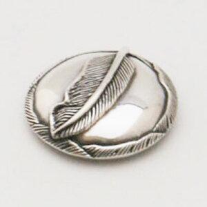 コンチョ CS-704 Silver925純銀ハイクオリティー フェザー羽 シルバーコンチョ(小)