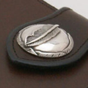 コンチョ CS-703 Silver925/純銀 ハイクオリティー フェザー 羽 シルバーコンチョ (大)