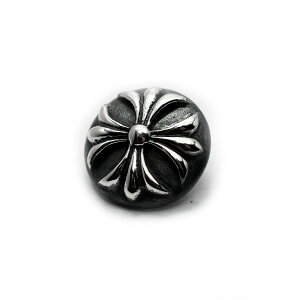 【メール便無料】シルバーアクセサリー 髪留め用 ループコンチョ 15mm 小型 スモール ゴシッククロスコンチョ Sサイズ silver925 シルバーボタン おしゃれ かわいい アクセサリー