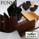 【送料無料】【日本製 本革】ファニー 財布 メンズ 二つ折り ウォレット ≪FUNNY 財布 ファニー ミディアムウォレット サンセットビル…
