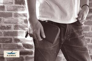 FUNNY/ファニー≪チャーリーズウォレット/CHARLIE'SWALLET≫≪アメリカンブライドルレザー/ブラウン≫FUNNY/長財布/本革【レザーウォレット専門店】【送料無料】【売れ筋】【楽ギフ_包装】