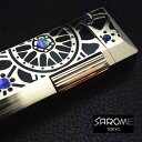 ガスライター/サロメ ≪SAROME SD41-15 シャンパンゴールド0.2μ/ブラックエポキシ/ホイールデザイン≫ 【CHAOS Lighter Bar】 ラッピ…