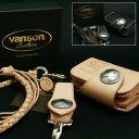 VANSON バンソン 二つ折り 革財布 ショート ウォレット VP-115-02S【フルセット】/日本製/財布/長財布/本革/バイカーズウォレット/ライ…