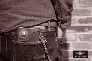 【小銭差し込み式】【即納】【日本製本革】フラットヘッド財布ウォレット≪THEFLATHEADSTOCKBURGストックバーグフラットヘッドヘリテージシリーズ手縫い多脂革ロングウォレット小銭差し込み式FH-WL004Cブラック/タン≫ロングウォレットメンズ長財布本革