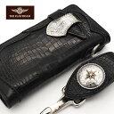 【次回入荷ナシ】手縫い FLATHEAD フラットヘッド 財布 ウォレット スモールクロコダイル コードバン STOCKBURG ストックバーグ ロン…