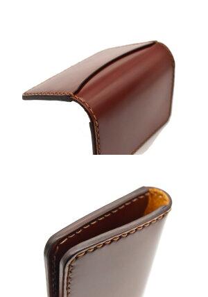 FLATHEADフラットヘッド≪STOCKBURGストックバーグ手縫いコードバン薄型カードケースブラウンVCC-01≫カードケース大容量メンズ本革名刺入れフラットヘッド財布レザーウォレット専門店カオス