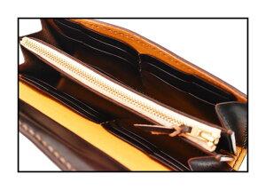 【別注限定モデル】日本製本革フラットヘッド財布ウォレット≪THEFLATHEADSTOCKBURGストックバーグフラットヘッドCHAOS別注シリーズFLW-01手縫い多脂革三つ折りロングウォレットブラウン≫ロングウォレットメンズ長財布本革かっこいい