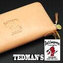 TEDMAN テッドマン 財布 ラウンドジップウォレット 鬼魂 TDW-250 ラウンドファスナーウォレット ナチュラル タン エフ商会 財布 メンズ…