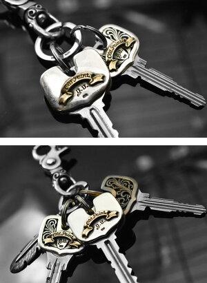 【メール便対応】【当店限定】goodvibrationsグッドバイブレーションズOLDPOINTオールドポイント真鍮製唐草模様アラベスクキーヘッドカバーソリッドブラス加工2重リング付きキーカバーおしゃれキーキャップかっこいいメンズキーケースキーメット