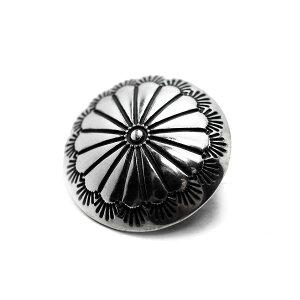 【シルバーコンチョ ループ 髪留め 用】 silver925 シルバーボタン ヘアーアクセサリー ブレスレットに最適!17mm 001 [コンチョ][ヘアゴム]〔メール便可〕