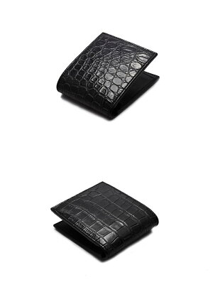 【FUNNY取扱数No.1正規店】FUNNY財布ファニーショートウォレットビルフォードソルトウォータークロコダイルポロサスブラック【送料無料】【日本製本革】ファニー財布メンズ二つ折りウォレット