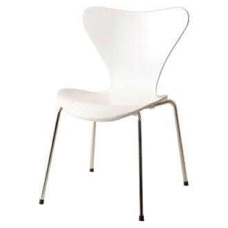 Seven Chair White Jacobsen Arne Dining Stacking