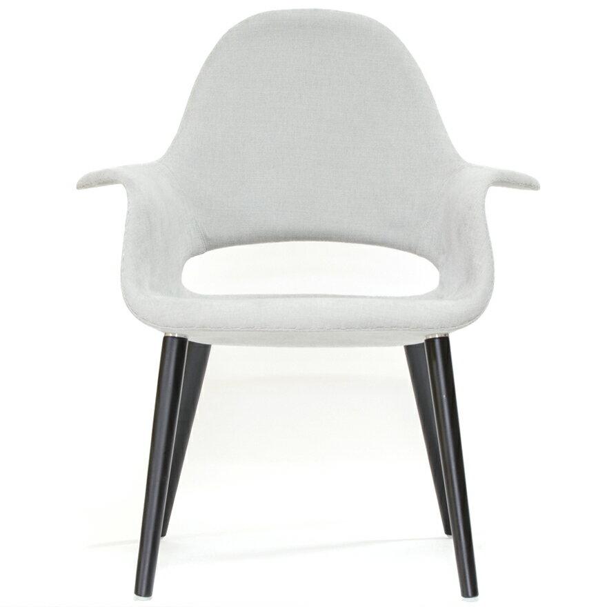 イームズ オーガニックチェア オーガニックアームチェア ライトグレー リプロダクト ダイニングチェア おしゃれ かわいい 椅子 eames