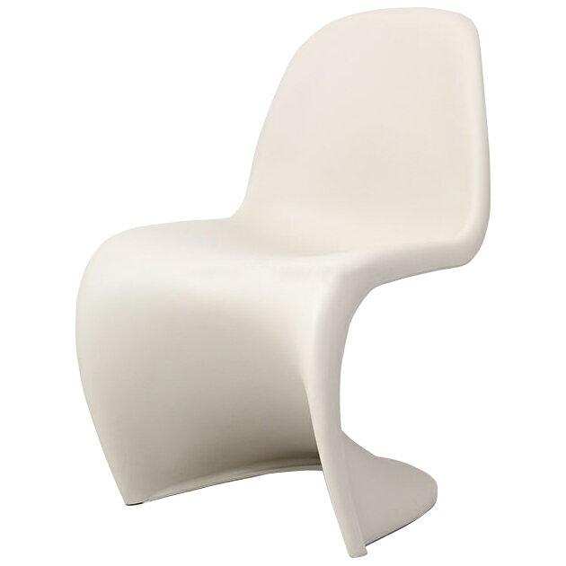 スタッキングチェア おしゃれ かわいい ヴェルナー・パントン パントンチェア クリームベージュ つやなし デザイナー 椅子 スタッキング チェアー リプロダクト