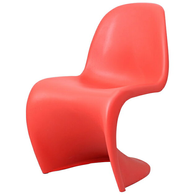 スタッキングチェア おしゃれ かわいい ヴェルナー・パントン パントンチェア レッド つやなし デザイナー 椅子 スタッキング チェアー リプロダクト