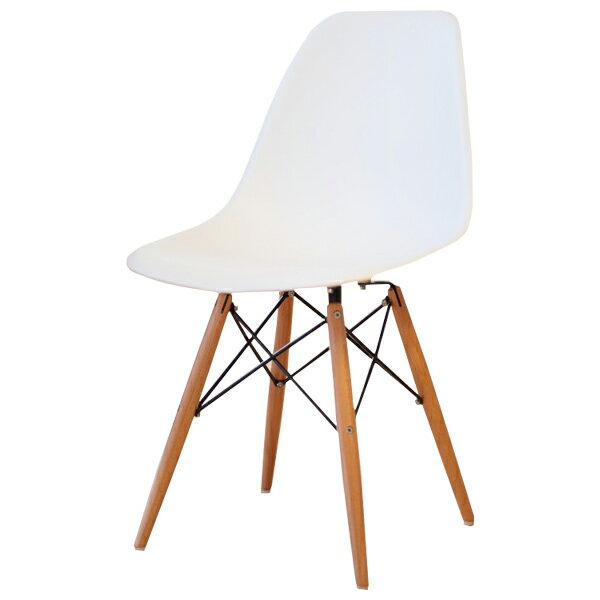 Eames DSW PP Polypropylene White Shell Chair Dining Chair