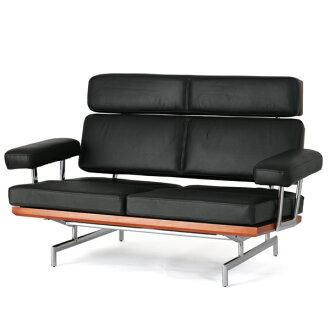 Eames sofa two seat leather sofa