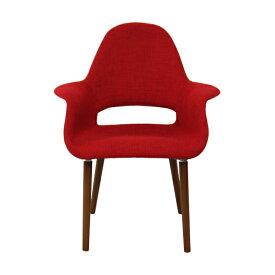 イームズ オーガニックチェア レッド アームチェア ダイニングチェア 椅子 イームズチェア eames おしゃれ かわいい