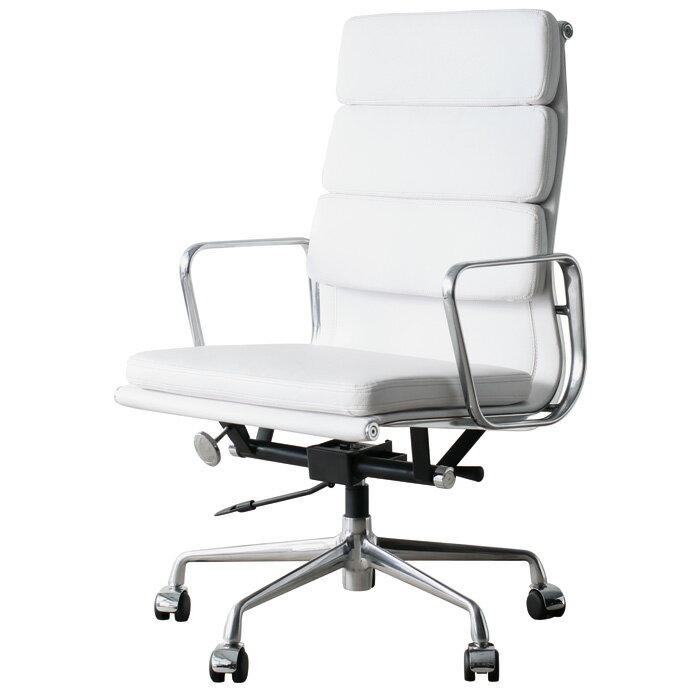 Eames Aluminum Chair Office Chair Highback Soft White PVC Aluminum Group