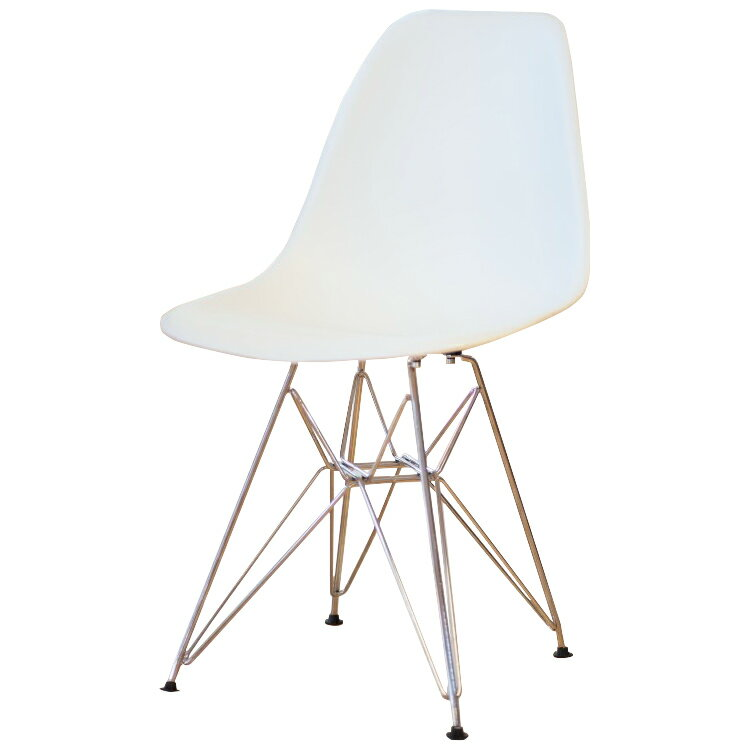 Eames DSR PP Polypropylene White Shell Chair Dining Chair