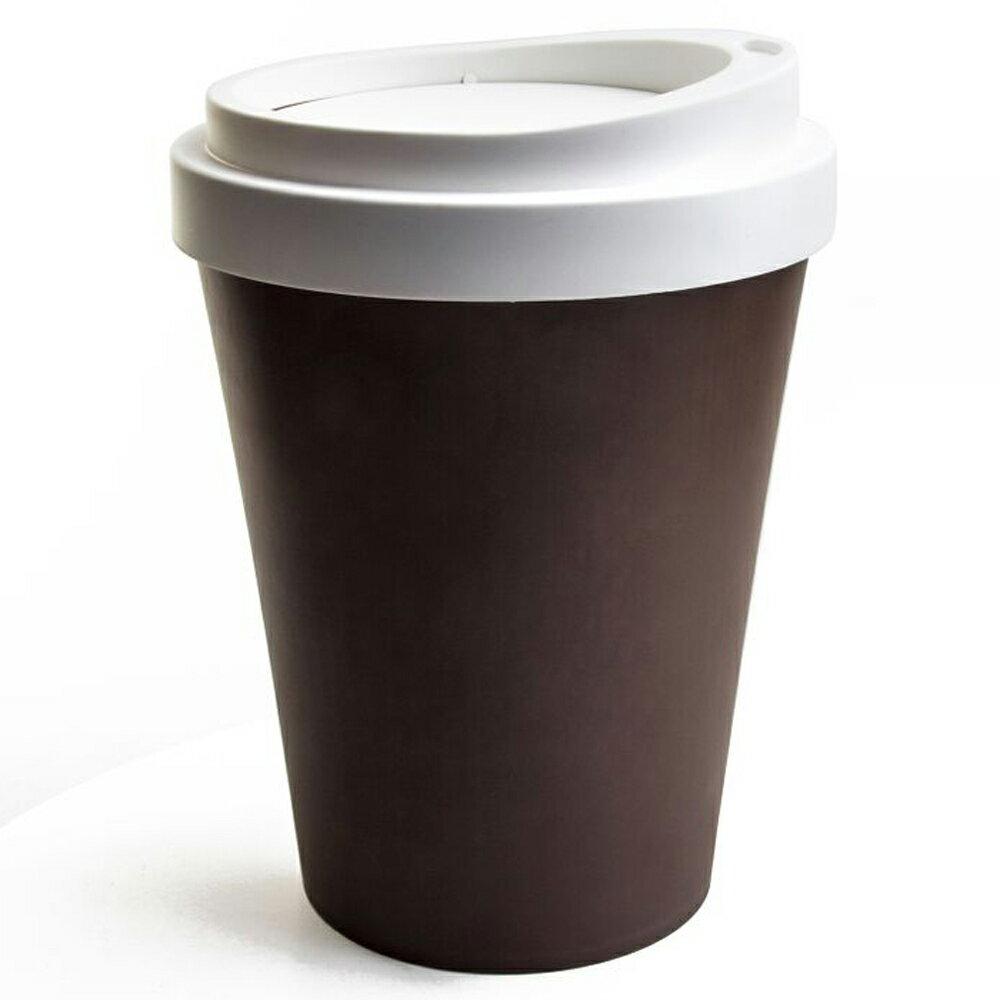 ゴミ箱 おしゃれ ふた付き かわいい ごみ箱 蓋つき クオリー QUALY コーヒービン COFFEE BIN フタ付きゴミ箱 フロアー用 ブラウン