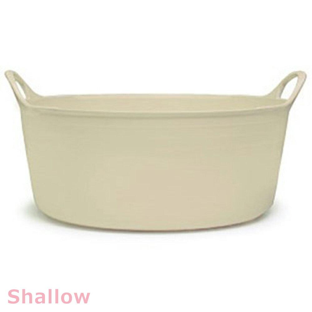 タブトラッグス シャロー TUBTRUGS シャロウ バニラ バケツ おしゃれ たらい 桶 洗い桶 洗濯桶 大型 タライ 足湯 つけおき カゴ 籠 ケース FAULKS&COX