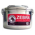 ゼブラ弁当箱ステンレスランチボックス丸型12cm中皿付き取っ手付きシンプル2ZEBRA正規品