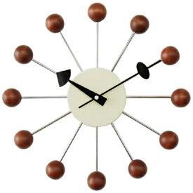 ジョージネルソン 時計 掛け時計 ボールクロック ウォールナット ウォルナット ブラウン ネルソンクロック 掛時計 壁掛け時計 おしゃれ かわいい かっこいい 正規品