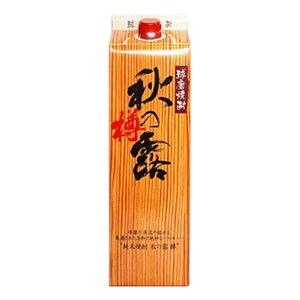 お酒 ギフト プレゼント 常楽酒造 米焼酎 秋の露 樽 パック 25° 1800ml