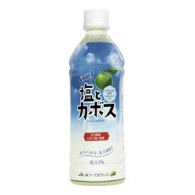 飲料 JAフーズ 塩とカボス 495ml ×1ケース ( 24本 ) ≪おいしく水分、塩分補給! 凍らせてもおいしい!≫ 【お取り寄せ商品】 かぼすジュース カボス
