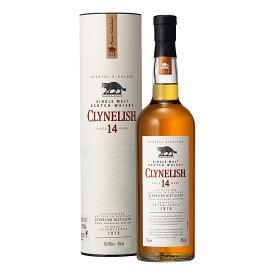 お酒 ギフト ウイスキー ハイランド シングルモルト クライヌリッシュ 14年 46° 700ml ≪ 筒上箱入り ≫