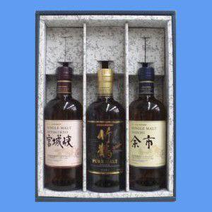 竹鶴 43° 700ml&余市 45° 700ml&宮城峡 45° 700ml ≪かぶせ箱入りニッカウイスキー飲み比べ3本セット≫