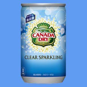 カナダドライクリアスパークリング160ml缶×1ケース(30本)≪全国どこでも送料無料!≫【メーカー直送の為代引き不可】