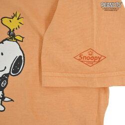 スヌーピーヘッドホンピグメントTシャツ半袖ウッドストック
