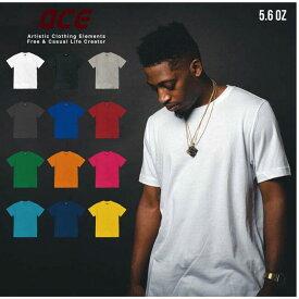 オーバーサイズ BIG 無地 半袖 Tシャツ ビックサイズ ACE