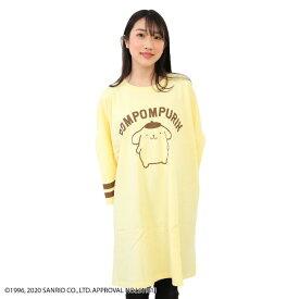 サンリオ スーパービッグTシャツ ポムポムプリン クリーム キャラクタープリント Tシャツ ワンピース 3L 4L5L 6L
